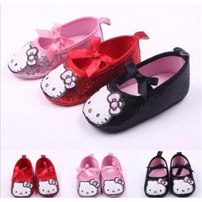 2 Pares De Zapatos Hello Kitty Rojo Y Negro 12cm Bebe Niña