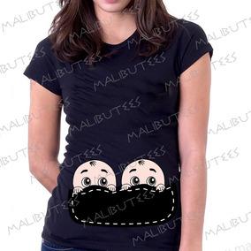 Blusa T-shirt Bebe Gêmeos Gestante Gravida Chá De Bebê