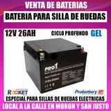 Bateria 12v 26ah Golfcar Silla De Ruedas Electrica
