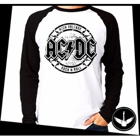 Manga Longa Acdc High Voltage Banda Rock Comprida Blusa 09