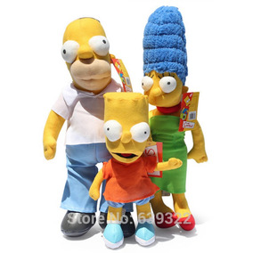 Kit Simpsons Pelúcia 48cm E 30cm Pronta Entrega Envio 24h
