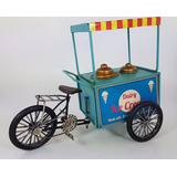 Puesto De Helados Bicicleta Decorativo Miniatura - Chapa