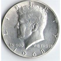 1/2 Dolar Kennedy De Plata- Años 1966-67-68-69 C/u $90