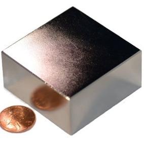 Super Ima Neodímio Bloco 2x2x1 Pol Potente Forte N50 1 Pç