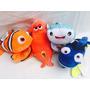 Dory Nemo E Seus Amigos Pelucia Kit Com 4