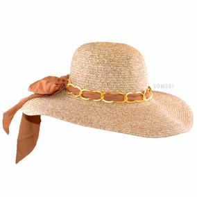 Hermoso Sombrero Capelina Pamela Para Mujer Ala Larga