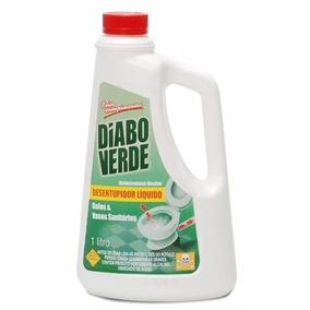Desentupidor Líquido De Ralos E Vasos Sanitários Diabo Verde