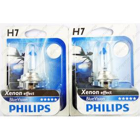 02 Lâmpadas Farol Moto H7 Philips Blue Vision Ninja 300