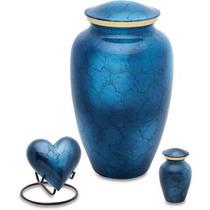 Urnsdirect2u Mystic Azul Cremación Urna Conjunto