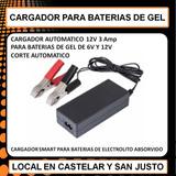Cargador Bateria De Gel 12v Y 6v Corte Automatico 3amp