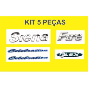 Kit Emblema Siena + Fire + Flex + Celebration 5 Peças