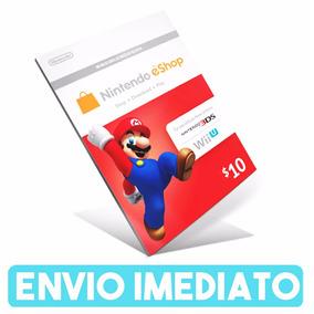 Cartão Nintendo 3ds Wii U Eshop Cash Card $10 Envio Rápido