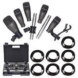 Samson Dk707 Juego De Micrófonos Para Batería De 7 Piezas C