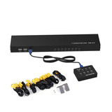 Rijer 8 Puertos Smart Kvm Interruptor Manual Tecla U -negro