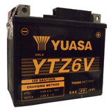 Bateria Moto Yuasa Ytz6v Titan150 Fan Mix09 Bros150 Xre300