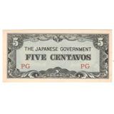Billete Filipinas 5 Centavos (1942) Bajo Dominio Japones