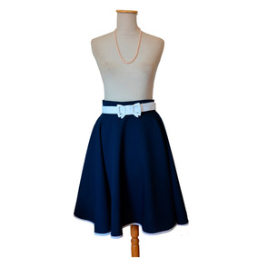 Pollera Pin Up Plato Navy Azul Marino