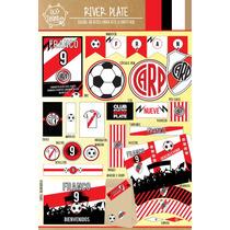 Kit Imprimible River Plate Futbol Candy Bar Deco!