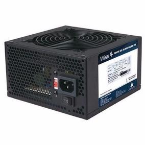 Fonte Atx 500w Reais Wisecase 24p Fan 12 Cm + Cabo Inmetro