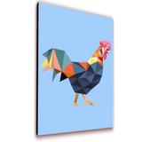Cuadro 50x30cms Decorativo Gallo + Envío Gratis!!!
