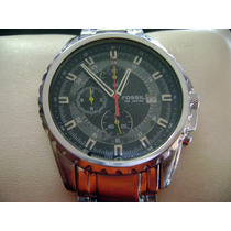 Reloj Fossil Chronometer Ch-2446. All Stainless Steel.