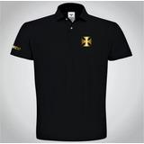 Camisa Polo Preta Com Dourado no Mercado Livre Brasil d052fca9d0874