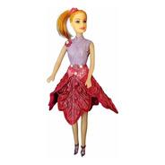Kya - Rosa Com Glitter - Bonecas Artesan