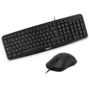 Teclado Y Mouse Combo Kit Usb Onset Tc400 Negro Garantia