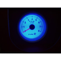 Relógio Tacômetro Conta-giros Rpm Com Led X1.000 52mm Type R