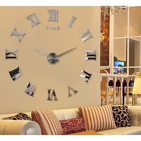 Relógio D Parede Sala Grande Espelho Adesivo Decoração Lindo
