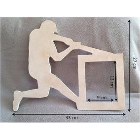 Portaretrato Beisbolista En Mdf Crudo