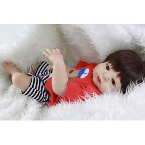 Boneco Bebê Reborn Realista 55 Cm Silicone Pronta Entrega