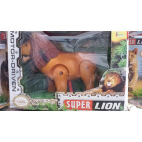 Brinquedo A Pilha Para Aniversário - Leão 3d Anda Luzes Som