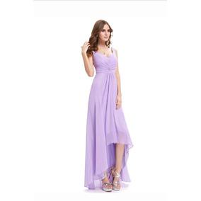 Vestido Pp Lilás Candy Color Tom Pastel Madrinha Casamento