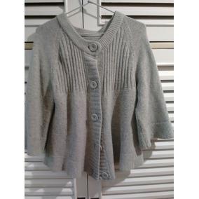 Chaqueta Pullover Sweater Lana Tejida Gris Perla Mujer a0d984c36343