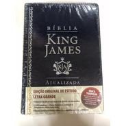 Bíblia De Estudo King James Luxo Azul Pal Em Azul E Vermelho