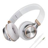 Audífonos Plegables, Biensound Hw50c (blanco / Dorado)