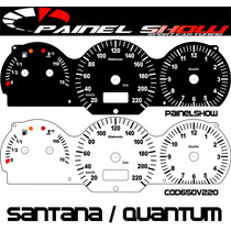 Santana 98 99 2000 Cod650v220 Translucido P/ Painel + Led