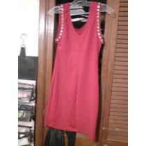Hermoso Vestido Rojo Con Cadena Y Piedras