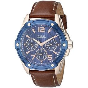 U0600g3 Deportivo Casual Guess Hombre De Azul Y Brown Reloj