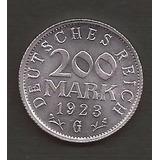 Alemania 200 Marcos 1923 Moneda Usada Excelente Estado