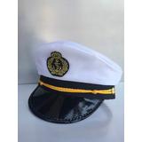Marujo- Chapéu Marinheiro-quepe-boina-capitão-fantasia -