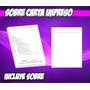 Impresión Sobre Carta En Negro Y Gris Incluye Sobre Env. 48h