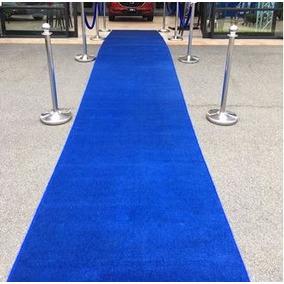 Passadeira Carpete Azul Royal Casamento, Festas 15x2 Metros