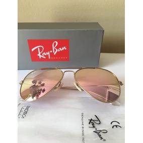 d505f1d285a60 Oculos Rayban Espelhado Dourado Aviador - Calçados, Roupas e Bolsas ...