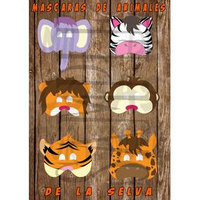 Mascara Antifaz De Animales Selva Tigre Cebra Leon Elefante