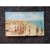 1176- Postal San Clemente Del Tuyu 1962 Playa Hora Del Baño