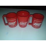 Lote De Vasos Plástico Coca Cola De Los Años 80