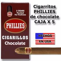 Cigarros Phillies Caja X 5 De Chocolate Local Microcentro