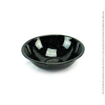 Tazon De Peltre Negro Brillante 18cm De Diámetro